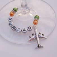 Transport Wine Glass Charms